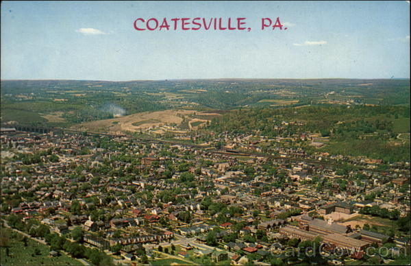 Aerial View of Coatesville, Pennsylvania